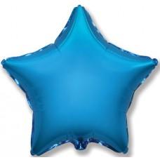 Фольгированный шар (32''/81 см) Звезда, Синий, 1 шт.