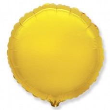 Шар (18''/46 см) Круг, Золото, 5 шт.