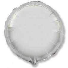 Шар (18''/46 см) Круг, Серебро, 5 шт., арт. 401500P