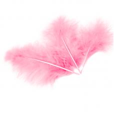 Перья Розовые, 13-15 см. (30 шт.) 6014752
