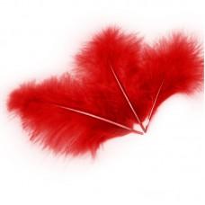 Перья Красные, 13-15 см. (30 шт.) 6014757
