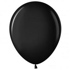 Шар (12''/30 см) Черный (299), пастель, 100 шт.(711010)