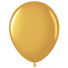 Шар (12''/30 см) Золото (818), металлик, 100 шт.(711014)