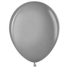 Шар (12''/30 см) Серебро (801), металлик, 100 шт.(711015)