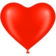 Шар Сердце (12''/30 см) Красный (803), пастель 50 шт. 828001
