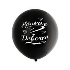 Воздушный шар (24''/60 см) Мальчик или Девочка. 1 шт. (1103-2203)