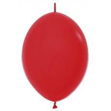 """Шар S Линколун Пастель 9"""" (23см), цвет Красный \ Red"""