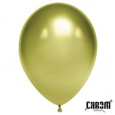 Шар (12''/30 см) Лайм, хром, 50 шт. (611109)