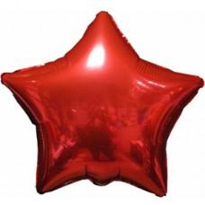 """Шар - Красная Звезда, Ф Б/РИС 18"""" ЗВЕЗДА Металлик Red(FM), арт. 1204-0100"""