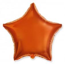 "Шар Звезда Оранжевый / Star Orange Flex Metal, Ф Б/РИС 18"" ЗВЕЗДА Металлик Orange(FM), арт. 1204-0541"