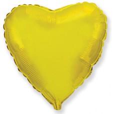 "Шар - Мини Сердце Золото / Heart Gold Flex Metal, 4"", арт. 203500OV"