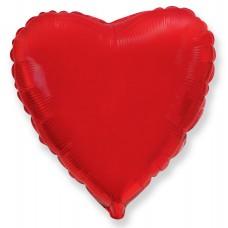 "Шар - Сердце Красное / Heart Red Flex Metal, 32"""
