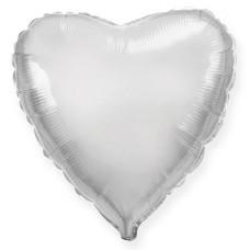 "Шар - Мини Сердце Серебро / Heart Silver Flex Metal, 4"", арт. 203500P"