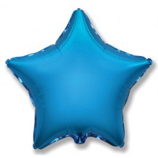 "Шар Звезда Синий / Star Blue Flex Metal, Ф Б/РИС 18"" ЗВЕЗДА Металлик Blue(FM), арт. 1204-0096"