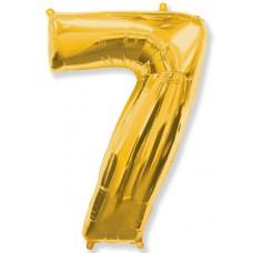 """Шар - Цифра """"7"""" , цвет золото / Seven, 40"""", арт. 901767O"""