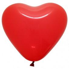 """Шарик с гелием. Сердце, цвет Красное, 12"""" (30см.)"""