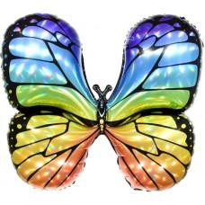 Шар фигура Радужная бабочка, Голография (31''/79 см) 190868
