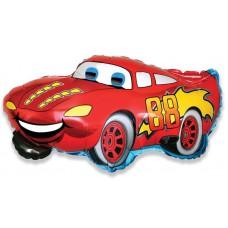 Шар фигура Гоночная машина, Красный (32''/81 см) 901662