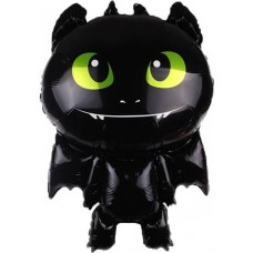 Шар фигура Маленький дракон, Черный (34''/86 см) 15504