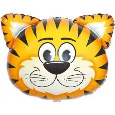 "Шар фигура Голова Полосатый тигр (29""/74 см) R384"