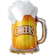 "Шар фигура Пиво в кружке (29""/74 см) 180786"