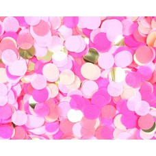 Конфетти Круги тишью фольга розовый/золото 10 гр. 1501-4088