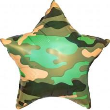 Шар Звезда, Камуфляж, Зеленый (18''/46 см)  750285