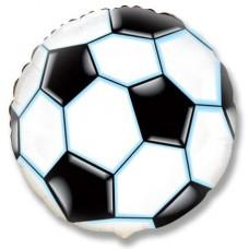 Шар Круг, Футбольный мяч, Черный  (18''/46 см) 401506N