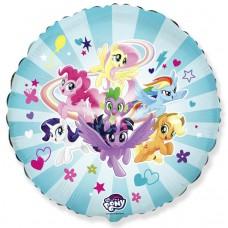 Шар My Little Pony, Дружные Лошадки, Голубой 401587