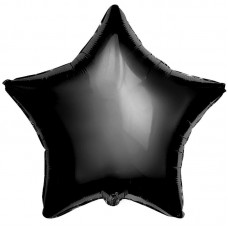 Шар (21''/53 см) Звезда, Черный, 5 шт 750869