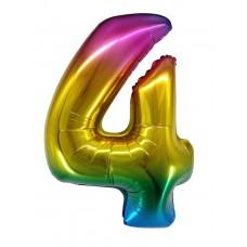 "Шар - Цифра ""4"" / Four цвет радужный, градиент (34""/ 86 см) R4174"