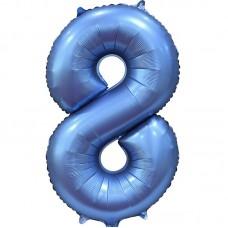 "Шар - Цифра ""8"" / Eight цвет синий, сатин (34""/ 86 см) 131058"