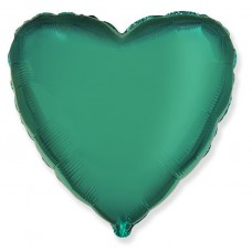 Шар  Сердце, Бирюзовый (18''/46 см) 201500TU
