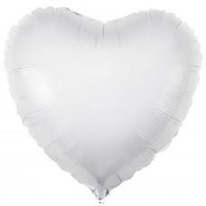 Шар  Сердце, Белый (19''/48 см) 750865