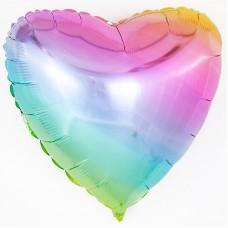 Шар Сердце, Нежная радуга, Градиент, 5 штук (18''/46 см) 201500GP