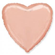 Шар Сердце Розовое Золото, 5 штук  (18''/46 см) 201500RG