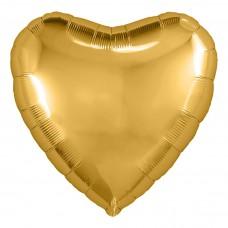 Шар  Сердце Золотой (19''/48 см) 750902