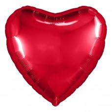 Шар  Сердце Красный (19''/48 см) 750933