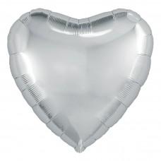 Шар  Сердце Серебро (19''/48 см) 750919