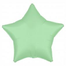 Шар Звезда Мятный, сатин (21''/53 см) 752326