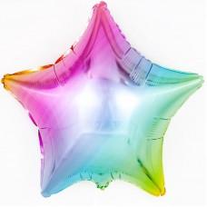 Шар Звезда, Нежная радуга, Градиент, (18''/46 см) 301500GP
