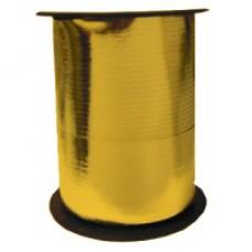 Лента для завязывания шаров металлизированная, на бобине. Золотая. 5ммХ230м (1302-0088)