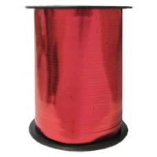 Лента для завязывания шаров металлизированная, на бобине. Красная. 5ммХ230м (1302-0089)