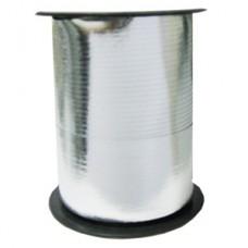 Лента для завязывания шаров металлизированная, на бобине. Серебряная. 5ммХ230м (1302-0090)